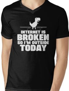 The Internet Is Broken Mens V-Neck T-Shirt