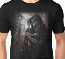 Skeleton w/ Bloody Cross Unisex T-Shirt