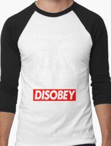Disobey Men's Baseball ¾ T-Shirt