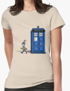 The Tardis Gets A Ticket Womens Fitted T-Shirt