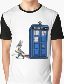 The Tardis Gets A Ticket Graphic T-Shirt