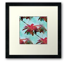 Coconut Palm Trees Summer Days  Framed Print