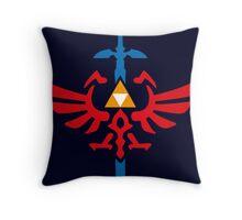 The Legend of Zelda - Master Sword Crest Throw Pillow