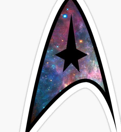 Boldly Go - Galaxy Sticker
