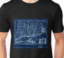 American Revolutionary War Era Maps 1750-1786 086 A map of the colonies in Connecticut and Rhode Island divided by counties & townships from best authorities Inverted Unisex T-Shirt
