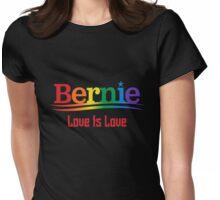 Bernie Rainbow - Love Is Love Womens Fitted T-Shirt