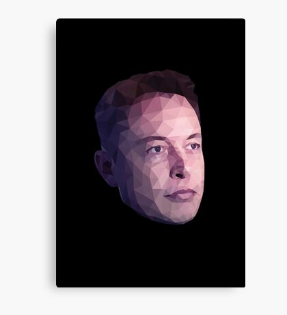 Low Poly Hero: Elon Musk – Prints & Posters Canvas Print
