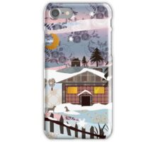 Retro christmas patchwork design nature winter picture iPhone Case/Skin