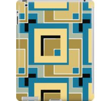 Abstract modern squares seamless pattern retro colors iPad Case/Skin