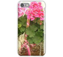 Basket of Geraniums iPhone Case/Skin