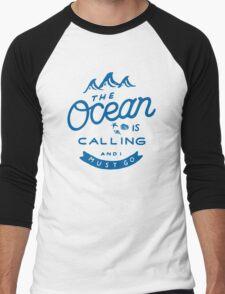 The Ocean is Calling Men's Baseball ¾ T-Shirt