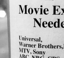 Movie Extras Needed Sticker