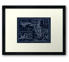 American Revolutionary War Era Maps 1750-1786 105 A map of the new governments of East & West Florida Inverted Framed Print