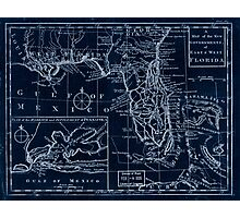 American Revolutionary War Era Maps 1750-1786 105 A map of the new governments of East & West Florida Inverted Photographic Print