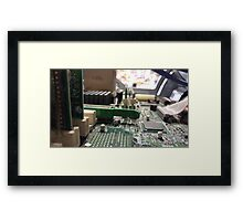 Techno Digital Mom 2 Framed Print