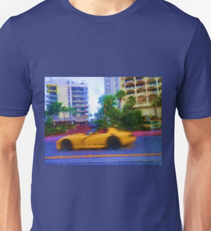 Hot Car Hot City Miami  Unisex T-Shirt
