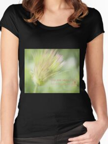The Breathings Of Your Heart - Inspirational Art Women's Fitted Scoop T-Shirt