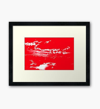 Sunset & Clouds in Red and White Framed Print