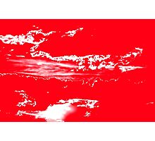 Sunset & Clouds in Red and White Photographic Print