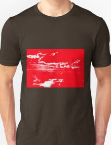 Sunset & Clouds in Red and White Unisex T-Shirt