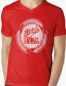 Drink Local Mens V-Neck T-Shirt