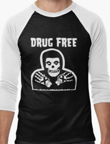 Drug Free Men's Baseball ¾ T-Shirt