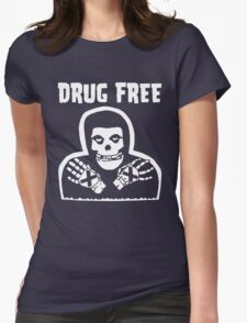 Drug Free Womens Fitted T-Shirt