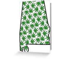 Alabama (AL) Weed Leaf Pattern Greeting Card
