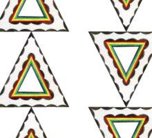 Rad Retro Triangles   Sticker