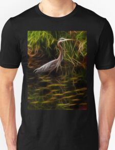 Great Blue Heron - Fractal Art Unisex T-Shirt