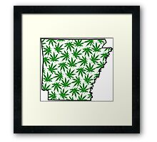 Arkansas (AR) Weed Leaf Pattern Framed Print