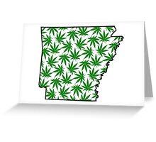 Arkansas (AR) Weed Leaf Pattern Greeting Card