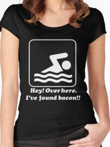 Hey Over Here I've Found Bacon Women's Fitted Scoop T-Shirt