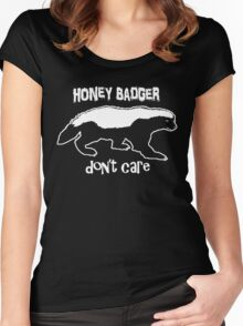 Honey Badger Don't Care Women's Fitted Scoop T-Shirt