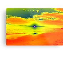 Psychedelic Sunset Metal Print