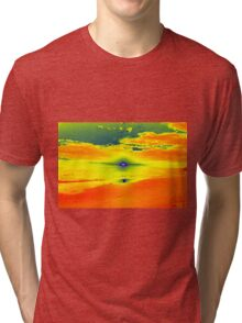 Psychedelic Sunset Tri-blend T-Shirt