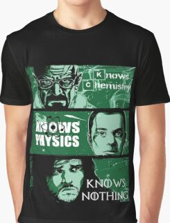 John Snow, Heisenberg, Sheldon Cooper Graphic T-Shirt