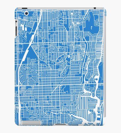 Fort Lauderdale Map - Light Blue iPad Case/Skin