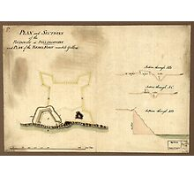 American Revolutionary War Era Maps 1750-1786 677 Plan and sections of the redoubt at Billingsfort and plan of the rebel fort marked yellow Photographic Print