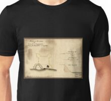 American Revolutionary War Era Maps 1750-1786 677 Plan and sections of the redoubt at Billingsfort and plan of the rebel fort marked yellow Unisex T-Shirt
