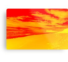 Psychedelic Beach Sunset Metal Print
