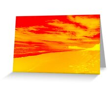 Psychedelic Beach Sunset Greeting Card