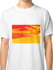 Psychedelic Beach Sunset Classic T-Shirt