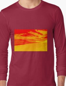 Psychedelic Beach Sunset Long Sleeve T-Shirt
