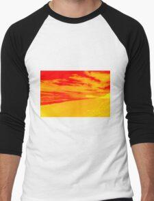 Psychedelic Beach Sunset Men's Baseball ¾ T-Shirt