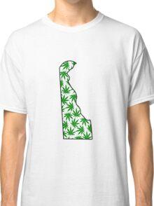 Delaware (DE) Weed Leaf Pattern Classic T-Shirt