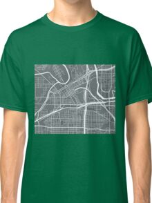 Fort Worth Map - Grey Classic T-Shirt