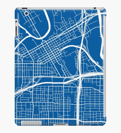 Fort Worth Map - Deep Blue iPad Case/Skin