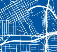 Fort Worth Map - Deep Blue Sticker