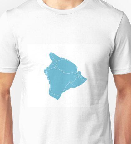 Hawaii Island Map - Baby Blue Unisex T-Shirt